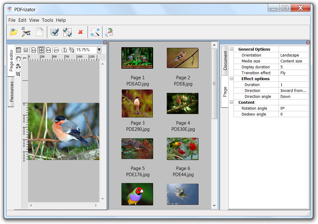 Click to view PDFrizator 0.6.0.29 screenshot